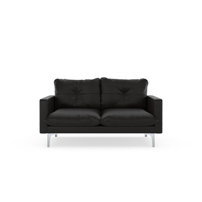 Selden Loveseat Upholstery: Onyx, Finish: Brass