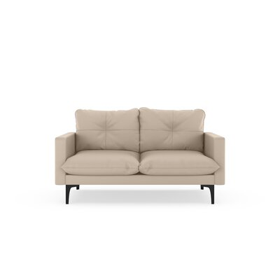 Selden Loveseat Upholstery: Oat, Finish: Black