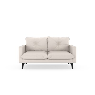 Selden Loveseat Upholstery: Ivory, Finish: Black
