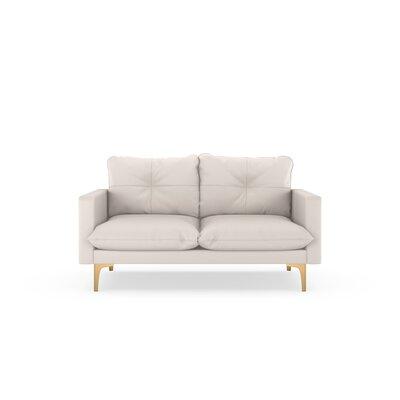 Selden Loveseat Upholstery: Ivory, Finish: Chrome