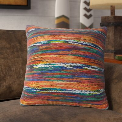 Atkin Throw Pillow Color: Orange
