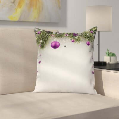 Christmas Tree Decorations Square Pillow Cover Size: 16 x 16