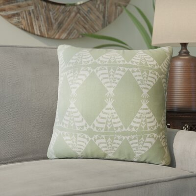 Vail Geometric Down Filled 100% Cotton Throw Pillow Size: 24 x 24, Color: Green
