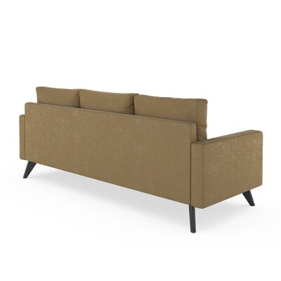 Lamkin Sofa Upholstery: Hazelnut, Finish: Black