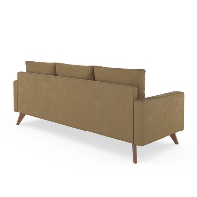 Lamkin Sofa Upholstery: Hazelnut, Finish: Brass