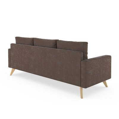 Lamkin Sofa Upholstery: Mocha, Finish: Chrome