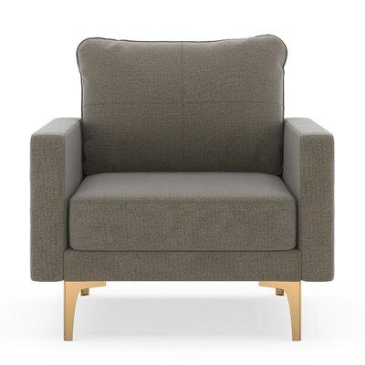 Crofts Armchair Upholstery: Smoke, Finish: Black