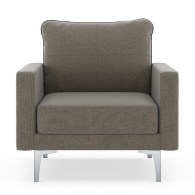 Crofts Armchair Upholstery: Smoke, Finish: Chrome