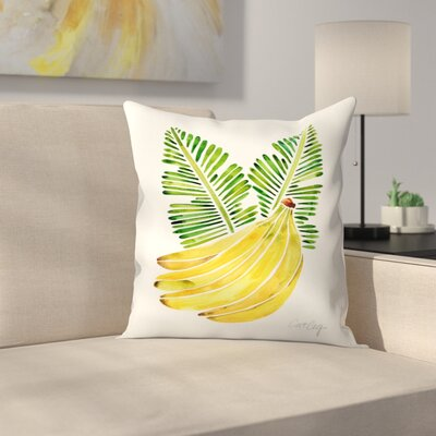 Banana Bunch Throw Pillow Size: 18 x 18