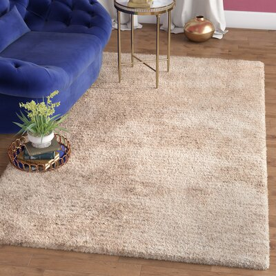 Maya Champagne Shag Area Rug Rug Size: Rectangle 5 x 8