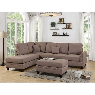 Marshal Reversible Sectional Upholstery: Coffee