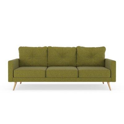 Crivello Sofa Upholstery: Olive Green, Finish: Chrome