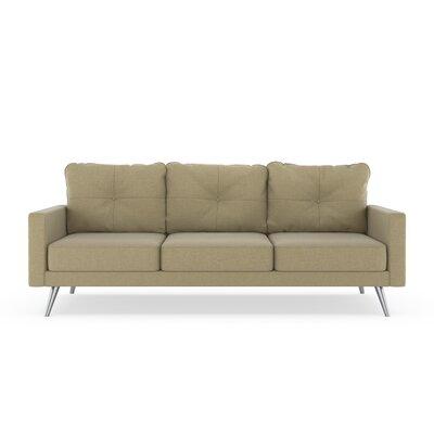 Crivello Sofa Upholstery: Sand, Finish: Brass