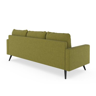 Crivello Sofa Upholstery: Olive Green, Finish: Black
