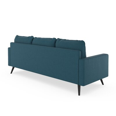 Crivello Sofa Upholstery: Yale Blue, Finish: Black