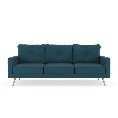 Crivello Sofa Upholstery: Yale Blue, Finish: Chrome