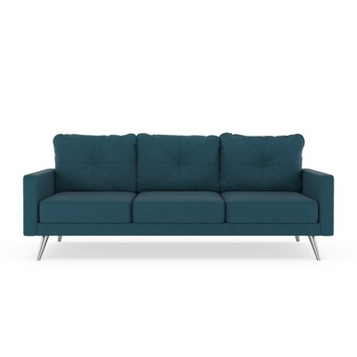 Crivello Sofa Upholstery: Yale Blue, Finish: Brass