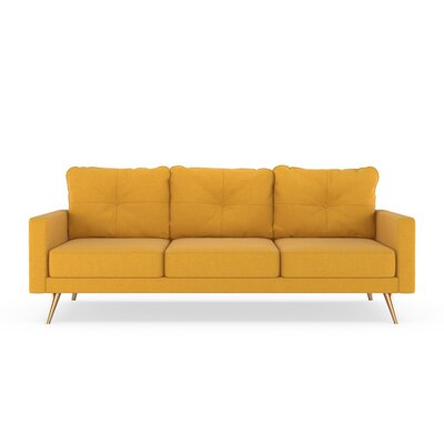 Crivello Sofa Upholstery: Sunflower, Finish: Chrome