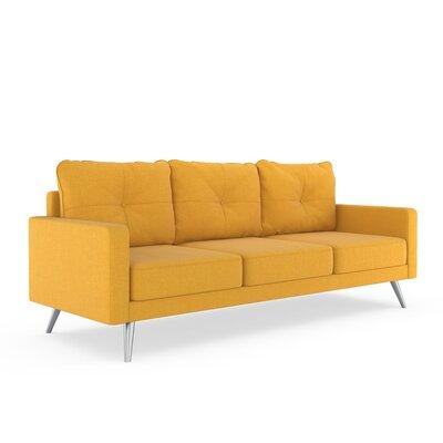 Crivello Sofa Upholstery: Sunflower, Finish: Brass