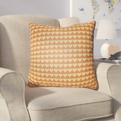 Colinda Square Throw Pillow Size: 18 H x 18 W x 4 D, Color: Orange
