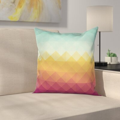 Abstract Checke Pastel Square Cushion Pillow Cover Size: 24 x 24