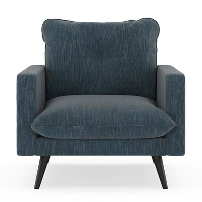 Crosson Armchair Upholstery: Navy Gray, Finish: Black