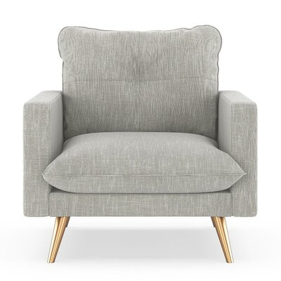Crosson Armchair Upholstery: Cloud Gray, Finish: Chrome