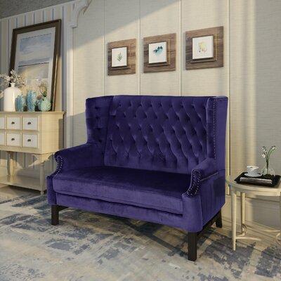 Fewell Loveseat Upholstery: Plum