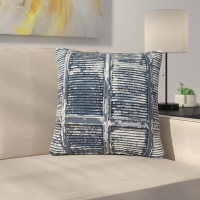 Susan Sanders Rustic Shutters Nautical Outdoor Throw Pillow Size: 18 H x 18 W x 5 D