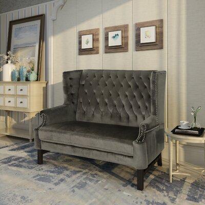 Fewell Loveseat Upholstery: Gray