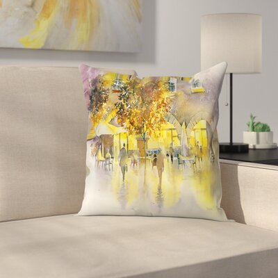 Evening Stroll Throw Pillow Size: 16 x 16