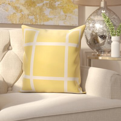 Harford Geometric Outdoor Throw pillow Color: Lemon, Size: 16 H x 16 W x 1 D