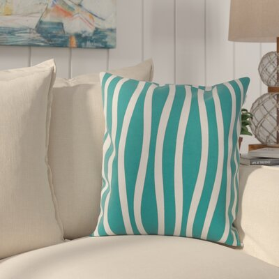 River Ridge Wavy Throw Pillow Size: 26 H x 26 W, Color: Lake Blue