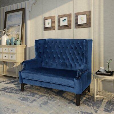 Fewell Loveseat Upholstery: Cobalt