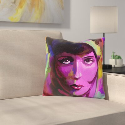 Clara Bow Throw Pillow