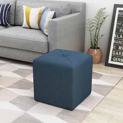 Otani Cube Ottoman Upholstery: Navy Blue