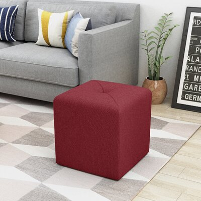 Otani Cube Ottoman Upholstery: Deep Red