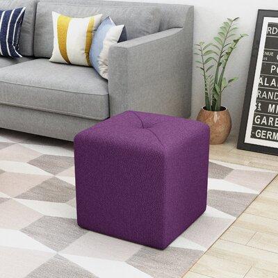 Otani Cube Ottoman Upholstery: Purple