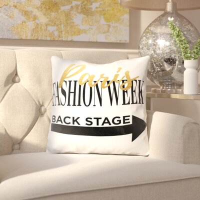 Oma Fashion Week Paris Throw Pillow