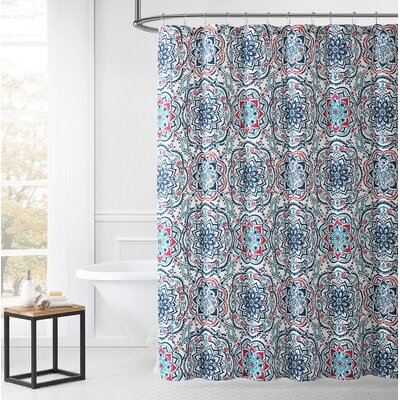 Ostler Medallion Print Shower Curtain