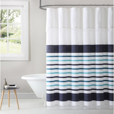 Dinwiddie Stripe Peshtemal 100% Cotton Shower Curtain
