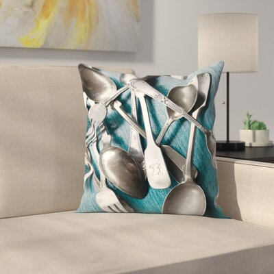 Maja Hrnjak Spoons Throw Pillow Size: 14 x 14