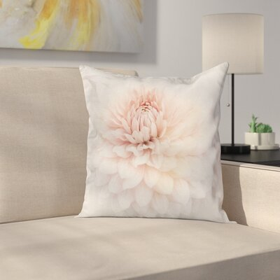 Dahlia Floral Beauty Square Pillow Cover Size: 16 x 16