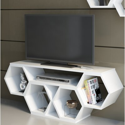Coleville 54 TV Stand Color: White