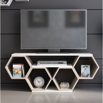 Coleville 54 TV Stand Color: White/Sonomo