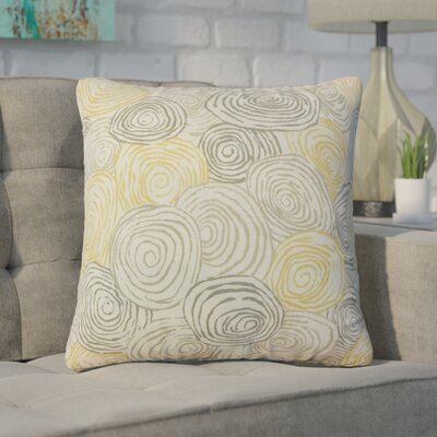Zeus Graphic Linen Throw Pillow Color: Yellow