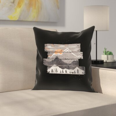 Into The Gray Morning Throw Pillow Size: 14 x 14, Color: Black