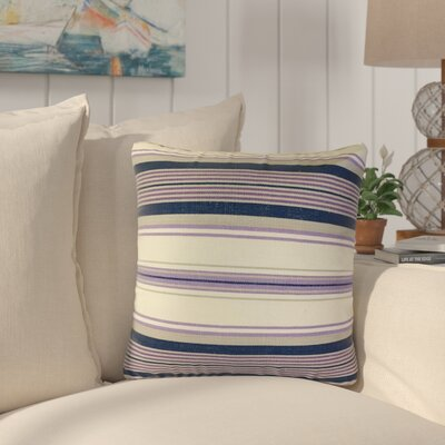 Ilona Striped Down Filled 100% Cotton Throw Pillow Size: 18 x 18, Color: Purple