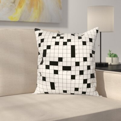 Puzzle Classical Square Cushion Pillow Cover Size: 20 x 20