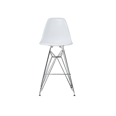 Hadsell Mid-Century 27.5 Bar Stool Color: White